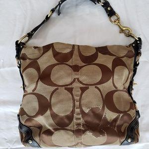 Coach Carly Signature Extra Large Hobo Bag